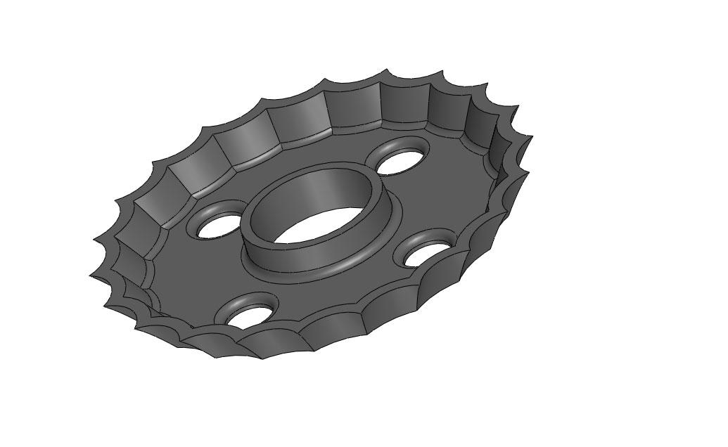 Ductile Iron Prism Ring Bottom Image